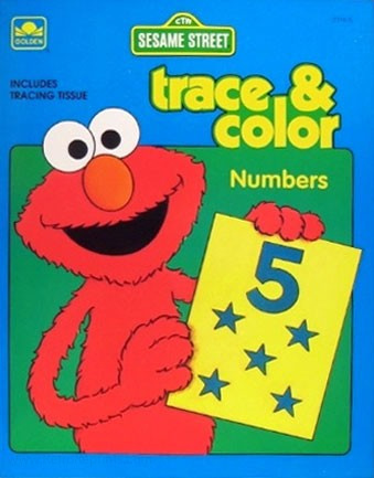 Sesame Street Numbers Trace & Color