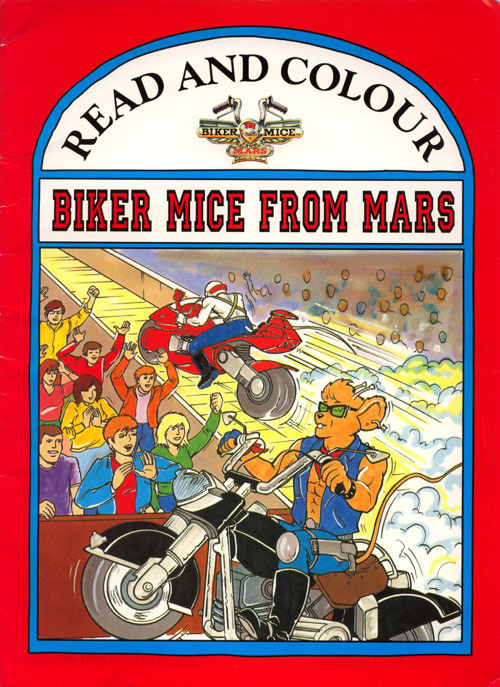 Biker Mice from Mars Read and Colour