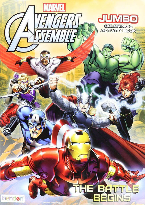 Avengers Coloring & Activity Book