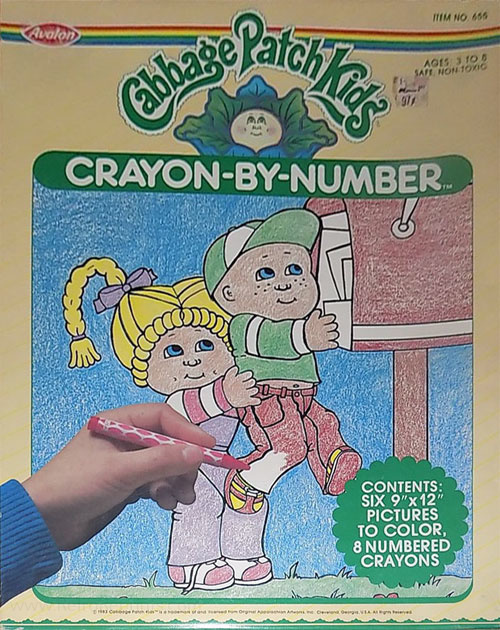 Cabbage Patch Kids Crayon By Number