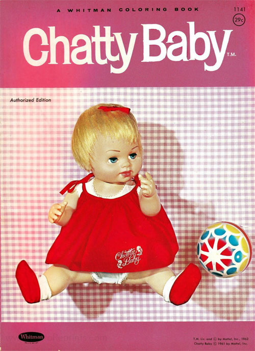 Chatty Cathy Chatty Baby Coloring Book