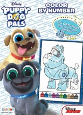Puppy Dog Pals, Disney's Crayon By Number