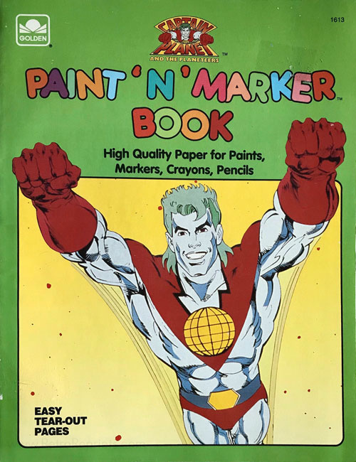 Captain Planet and the Planeteers Paint 'n' Marker Book