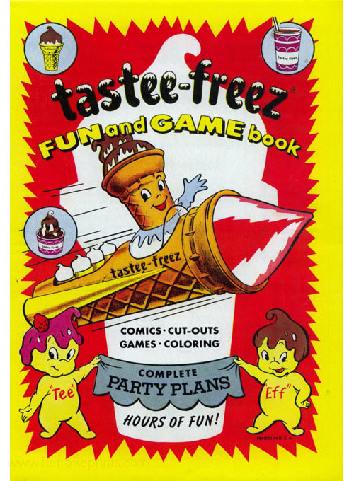 Commercial Characters Tastee-Freez Fun and Games Book