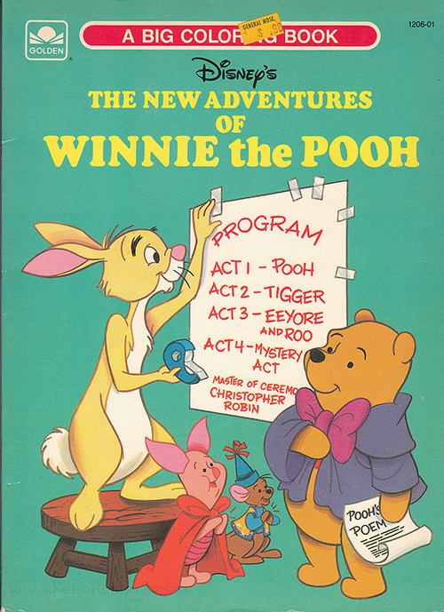 New Adventures of Winnie the Pooh, The Coloring Book