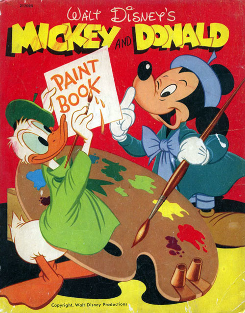 Mickey Mouse and Friends Mickey & Donald Paint Book