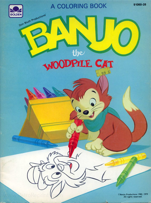 Banjo the Woodpile Cat Coloring Book