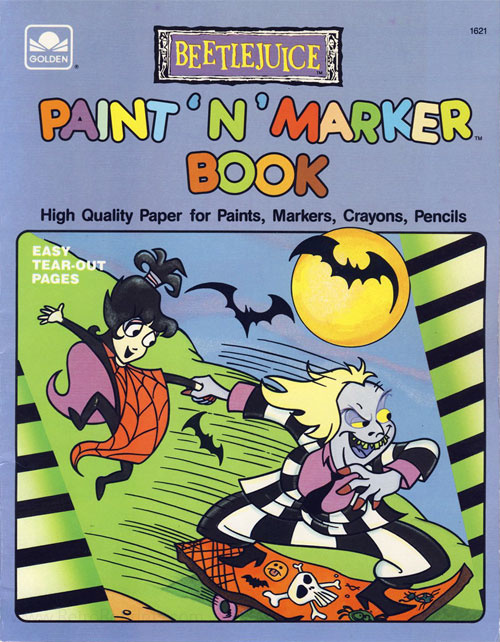 Beetlejuice Paint & Marker Book