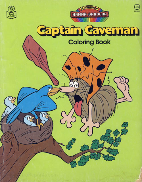 Captain Caveman & the Teen Angels Coloring Book