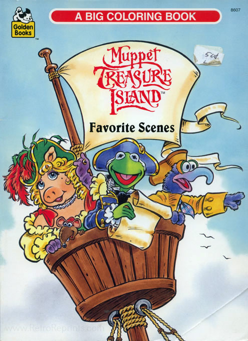 Muppet Treasure Island Coloring Books Coloring Books At Retro Reprints The World S Largest Coloring Book Archive