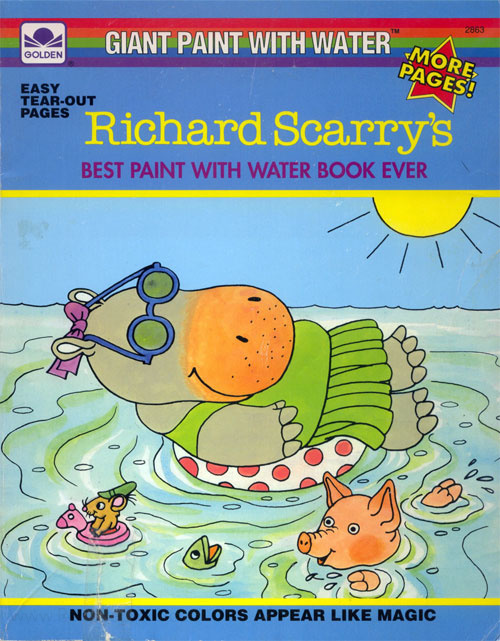 Richard Scarry ~ Original Illustration for Busy Coloring Book ... | 641x500