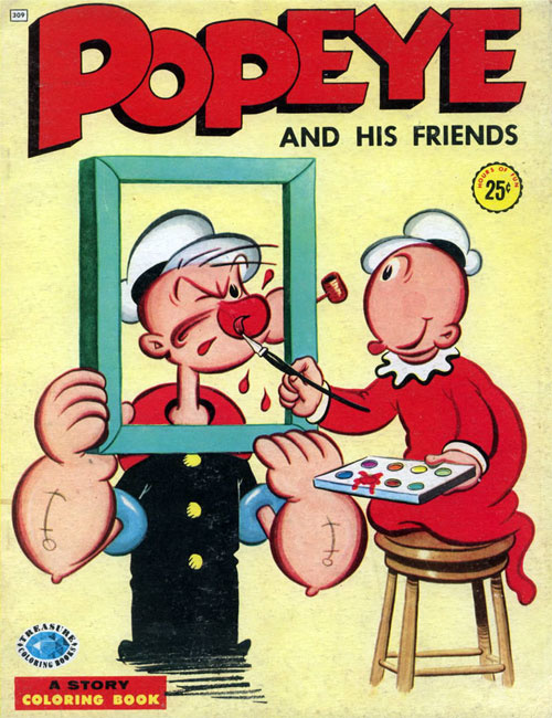 Popeye the Sailor Man Coloring Book