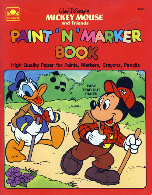 Mickey Mouse and Friends Paint 'n' Marker Book