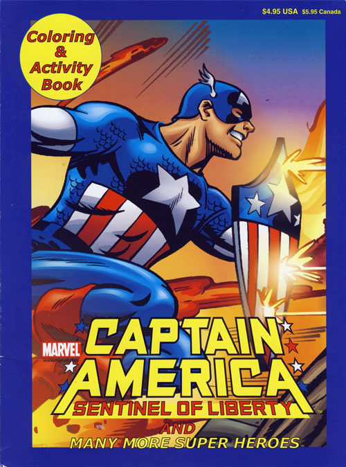 Captain America Coloring and Activity Book