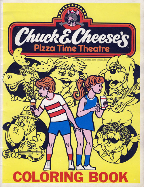 Chuck E. Cheese Coloring Book