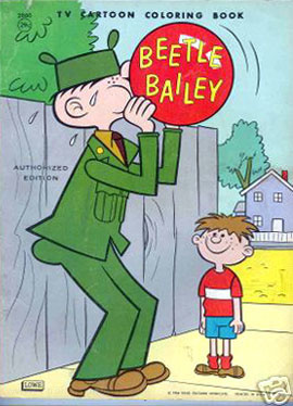 beetle bailey coloring pages - photo#15