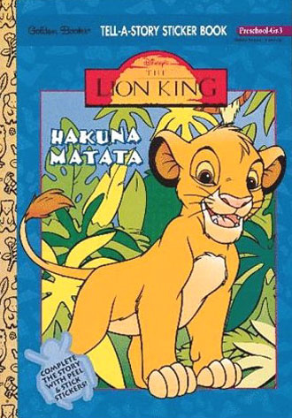Lion King, The Sticker Book