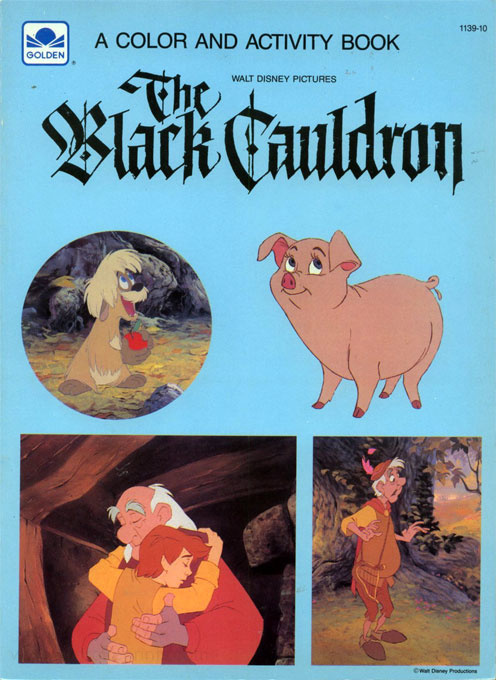 Black Cauldron, The coloring and activity book
