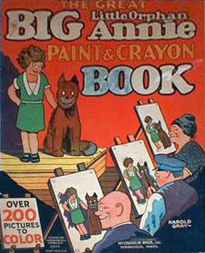 Little Orphan Annie Paint & Crayon Book