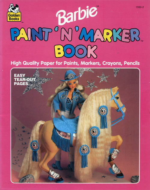 Barbie Paint 'n' Marker Book