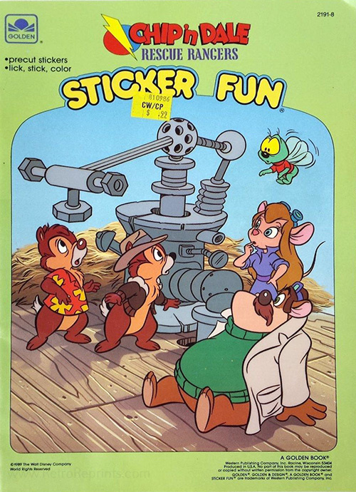 Chip 'n Dale Rescue Rangers Sticker Fun