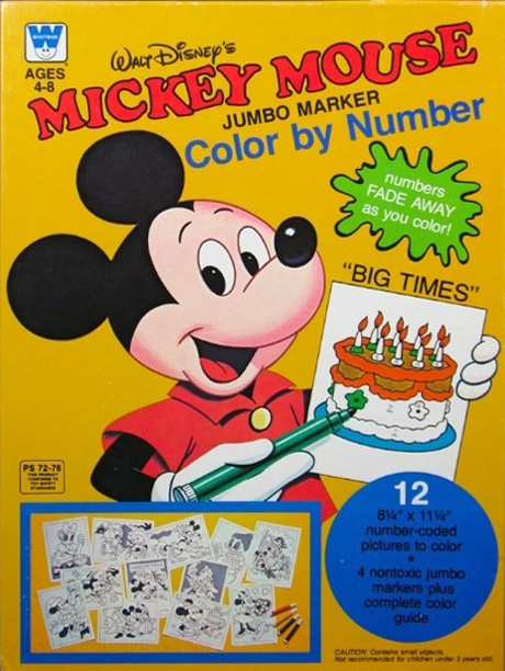 Mickey Mouse and Friends Color by Number
