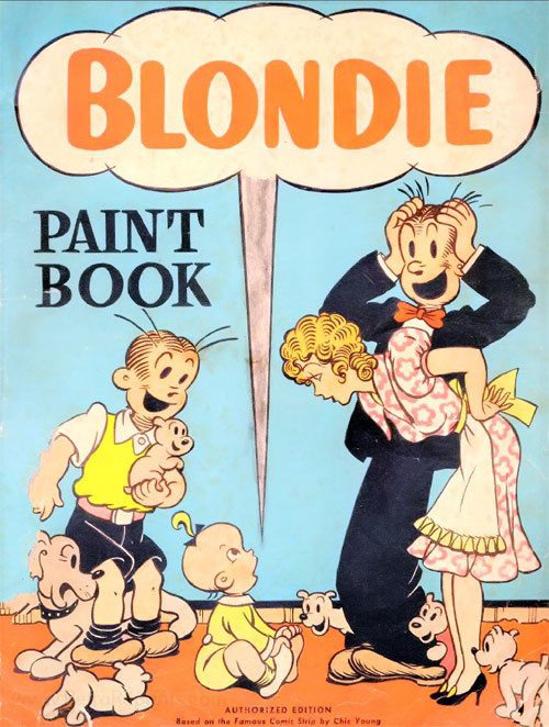 Blondie Paint Book