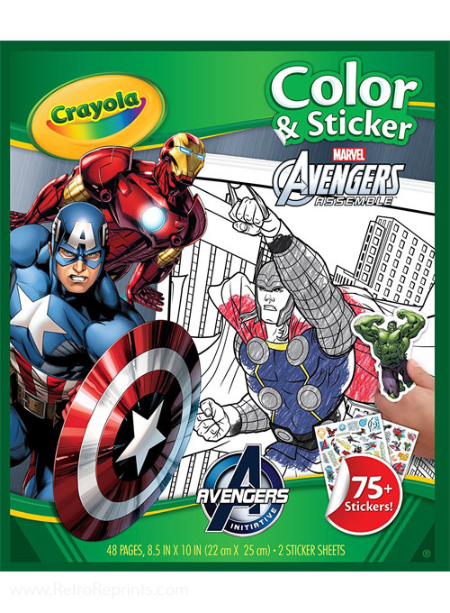 Avengers Color & Sticker Book