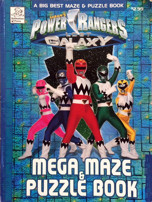 Power Rangers Lost Galaxy Mega Maze & Puzzle Book