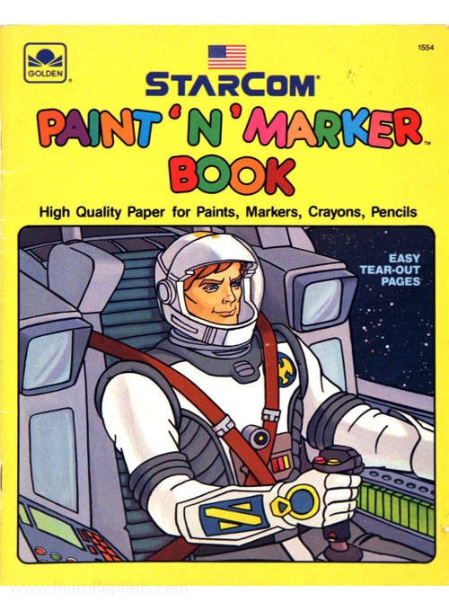 Starcom: The U.S. Space Force Paint 'n' Marker Book