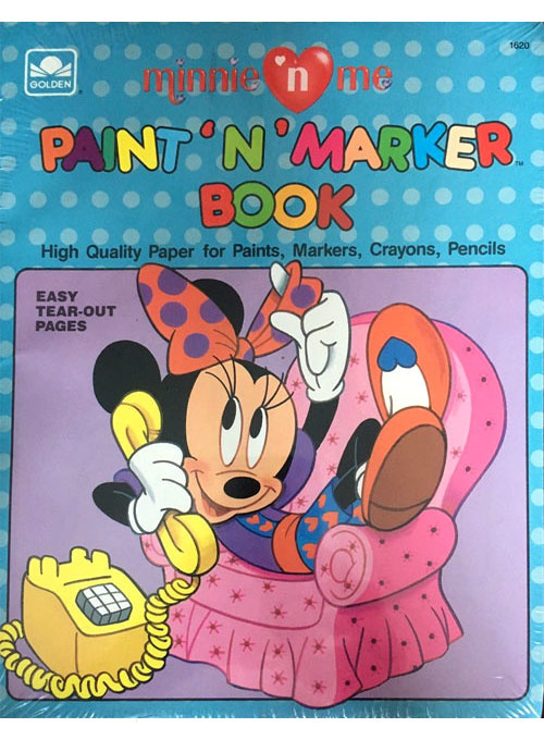 Minnie Mouse Paint 'n' Marker Book