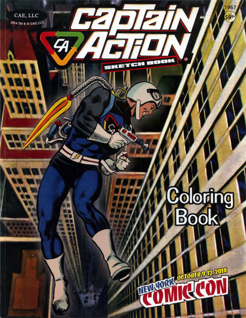 Captain Action Coloring Book