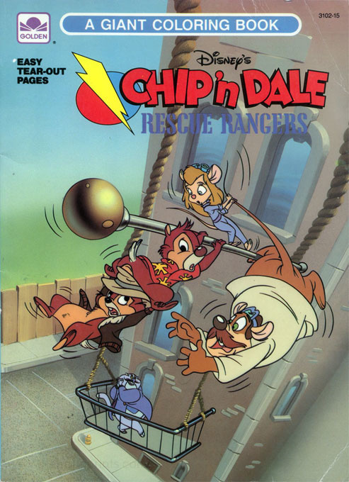Chip 'n Dale Rescue Rangers Coloring Book