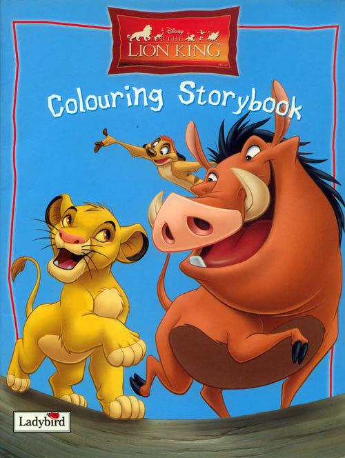 Lion King, The Coloring Book Coloring Books At Retro Reprints - The  World's Largest Coloring Book Archive!