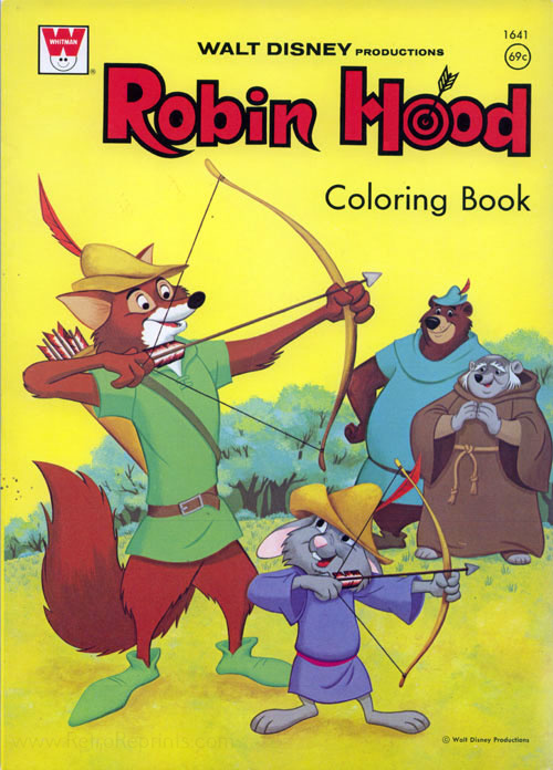 Robin Hood Disney S Coloring Book Coloring Books At Retro Reprints The World S Largest Coloring Book Archive