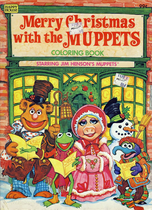 Muppets Jim Henson S Merry Christmas With The Muppets Coloring Books At Retro Reprints The World S Largest Coloring Book Archive