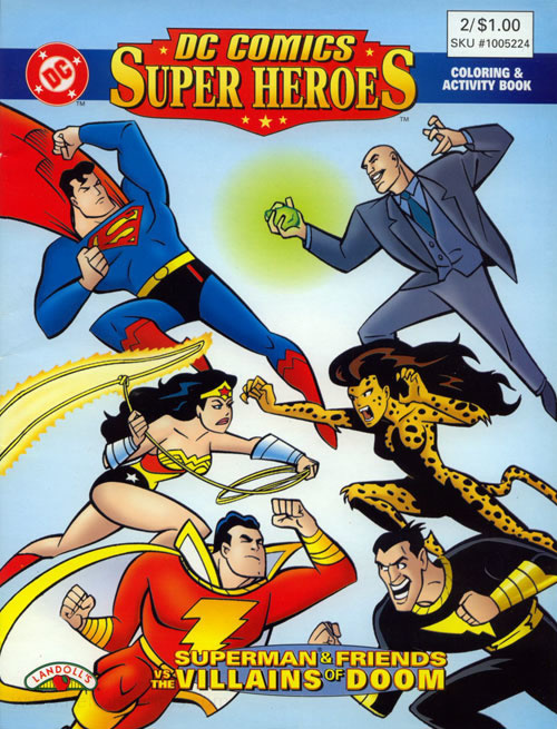 Dc Super Heroes Heroes Vs Villains Coloring Books At Retro Reprints The World S Largest Coloring Book Archive