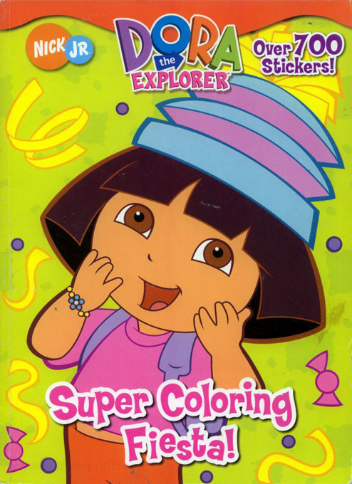 Dora The Explorer Super Coloring Fiesta! Coloring Books At Retro Reprints  - The World's Largest Coloring Book Archive!