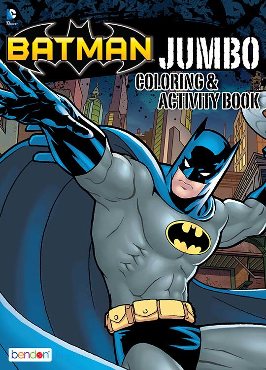 Batman Jumbo Coloring Activity Book Coloring Books At Retro Reprints The World S Largest Coloring Book Archive