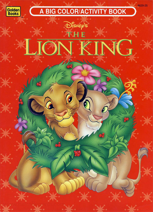 - Lion King, The Coloring And Activity Book Coloring Books At Retro  Reprints - The World's Largest Coloring Book Archive!