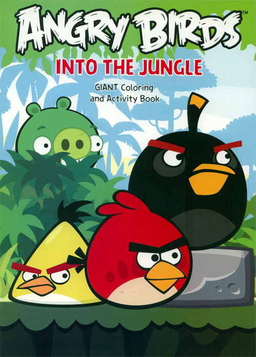 Angry Birds Into The Jungle Coloring Books At Retro Reprints - The  World's Largest Coloring Book Archive!
