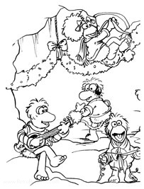 Fraggle Rock Jim Henson S Wintertime In Fraggle Rock Coloring Books At Retro Reprints The World S Largest Coloring Book Archive