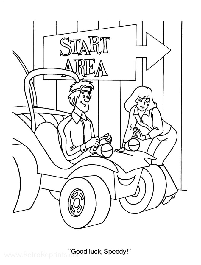 Speed Buggy Coloring Pages Coloring Books At Retro Reprints The World S Largest Coloring Book Archive