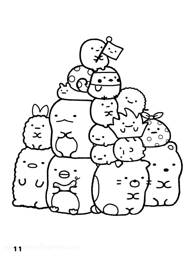 San X Sumikko Gurashi Coloring Pages Coloring Books At Retro Reprints The World S Largest Coloring Book Archive
